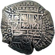 7½ reales - Felipe IV (arms countermark) – avers