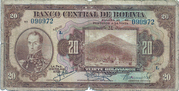 20 Bolivianos - 2 Bolivares – avers