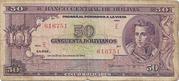 50 Bolivianos (5 Bolivares - Law 20.12.1945) – avers