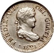 ½ real Fernando VII – avers