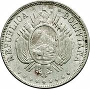 1 boliviano (la union es la fuerza) – avers
