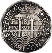 8 reales - Carlos II – revers