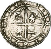 8 reales - Felipe II – revers