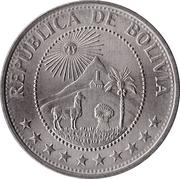 1 peso boliviano -  avers