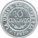 10 centavos (acier) -  revers