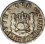 ½ real Carlos III – revers