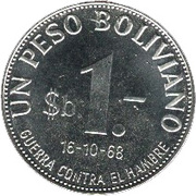 1 peso boliviano (FAO) – revers