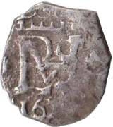 ½ real - Felipe III – avers