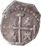 ½ real - Felipe III – revers