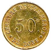 50 centimes - chambre de commerce de Bône – revers