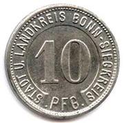 10 pfennig - Bonn-Siegkreis – avers