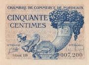 50 centimes - Chambre de Commerce de Bordeaux [33] – avers