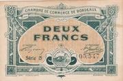 2 francs - Chambre de Commerce de Bordeaux [33] – avers