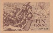 1 franc - Chambre de Commerce de Bordeaux [33] – avers