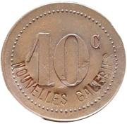 10 centimes - Nouvelles galeries Bordeaux (33) – avers