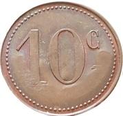 10 centimes - Nouvelles galeries Bordeaux (33) – revers