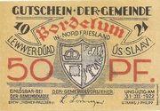 50 Pfennig (Bordelum) – avers