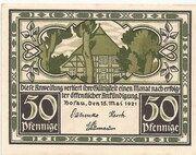 50 Pfennig (Bosau) – avers