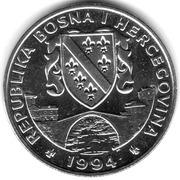 500 dinars (Loup gris) – avers