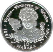 10 Maraka (Lady Diana Princesse de Galles) – revers