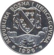 500 dinars (Harle bièvre) – avers