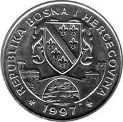 500 dinara (Jurassic Park) – avers