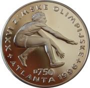 750 Dinara (Olympics - Long Jumper) – revers