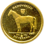 1/25 suverena (cheval Hanovrien) – revers