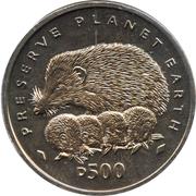 500 dinars (Hérissons) – revers
