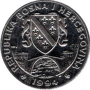 500 dinars (Ours noir) – avers