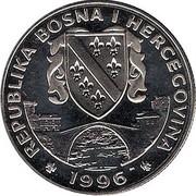 500 dinars (Jeux Olympiques) – avers