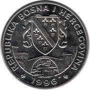 500 dinars (jeux Olympiques Atlanta 1996) – avers