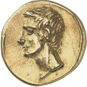 Stater - Polemon I (Augustus and Agrippa) – avers