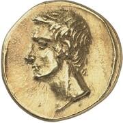 Stater - Polemon I (Augustus and Agrippa) – avers