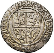 Gros a l'écu - Jean II – avers