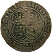 "1 Groot ""au Quadrilobe"" - Jean III (1344) – avers"