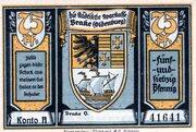 75 Pfennig (Brake; Städtische Sparkasse) – avers