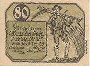 80 Heller (Brandenberg in Tirol) – avers