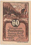 60 Heller (Brandenberg in Tirol) – avers