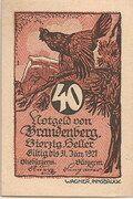 40 Heller (Brandenberg in Tirol) – avers