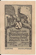 20 Heller (Brandenberg) – avers