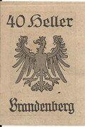 40 Heller (Brandenberg) – revers