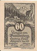 60 Heller (Brandenberg) – avers