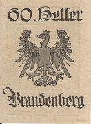 60 Heller (Brandenberg) – revers