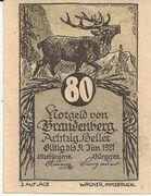 80 Heller (Brandenberg) – avers