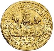 1 Ducat - Friedrich, Albert und Christian – avers