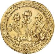 4 Ducat - Friedrich, Albert and Christian – avers
