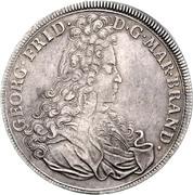 1 Thaler - Georg Friedrich (Start of reign) – avers