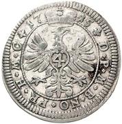 4 Kreuzer - Wilhelm Friedrich – revers