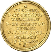 2 Ducat - Wilhelm Friedrich (Death) – revers